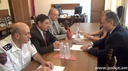 Politico-Military Programme Officer at the OSCE office in Yerevan Lilian Salaru visits the Police (VIDEO)