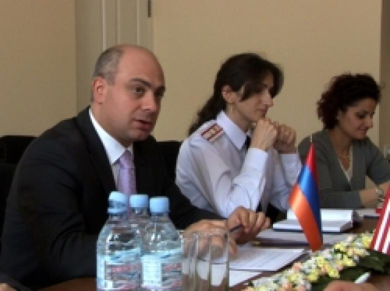The delegation of experts of Washington office of the Bureau of combating narcotic drugs and  inter-agency cooperation between law enforcement agencies of the U.S. Department of State in The police of the Republic of Armenia