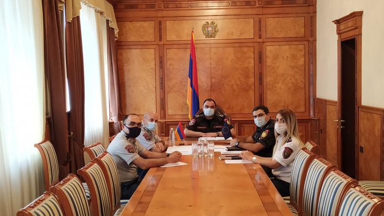 Vahe Ghazaryan has a video conversation with the EU Ambassador to Armenia