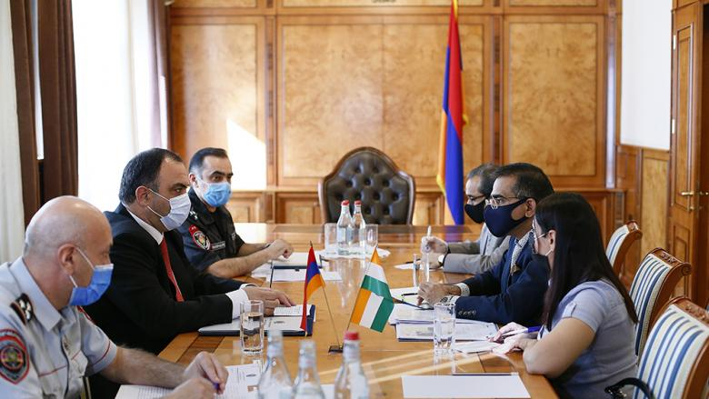 Head of Police receives the Ambassador of India to Armenia