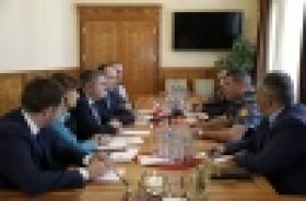 Police Chief receives the delegation led by Georgia's Minister of Corrections, Probation and Legal Assistance