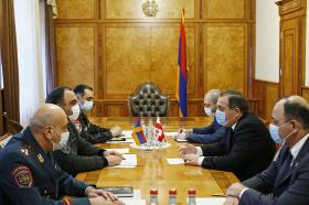 Head of Police receives the Ambassador Extraordinary and Plenipotentiary of Georgia to Armenia