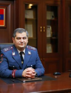 Head of the General Department of State Protection Police Colonel Davit Sargsyan