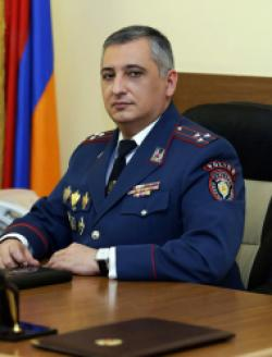 Head of the Public Relations and Information Department of the RA Police, Police Colonel Ashot S. Aharonyan
