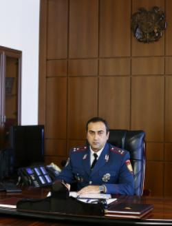 Head of the Yerevan City Department of Police of the Republic of Armenia, Police Colonel  Armen Gasparyan