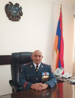 COMMANDER OF THE POLICE TROOPS OF THE REPUBLIC OF ARMENIA DEPUTY HEAD OF POLICE COLONEL  GURGEN DALLAQYAN